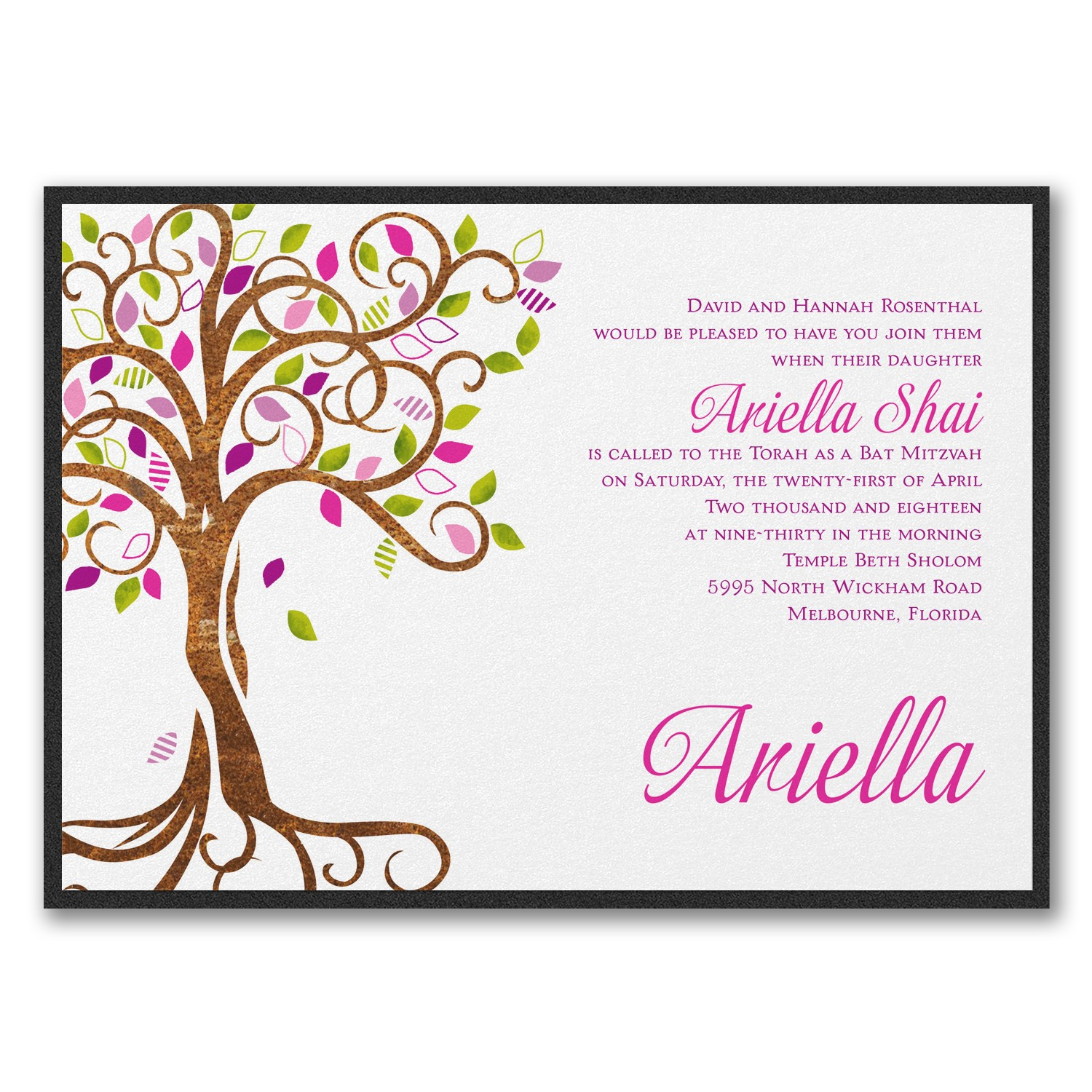 <u>Blooming Tree Invitation</u>